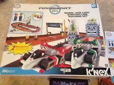 Mario Kart & Luigi Starting Line Wii KNEX Set in box w/ instructions & Figures
