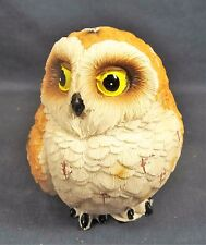Barn Owl Chick Golden Brown & White Wild Life Figurine A