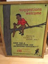 Vintage Sign Original Retro Poster Little woods Pools Circa 1950