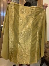 Antique French Velvet Gold Thread Christian Vestment Chasuble 19 C