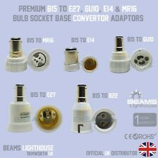 Small Bayonet Cap B15 To E27/MR16/GU10/B22/E14 LED/CFL Adaptor Convertor Holder