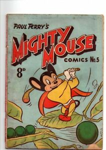 MIGHTY MOUSE     No 5  1954    .GOLDEN   AGE AUSTRALIAN  COMIC  FINE