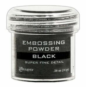 Ranger Embossing Powder Black Super Fine Plastic Jar