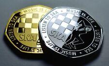 More details for pair of 2tone ska commemoratives. music is life. reggae, rocksteady. walt