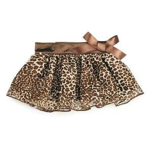 Dog Puppy Skirt - Zack & Zoey - Leopard Ribbon - Pink or Brown -  S/M M