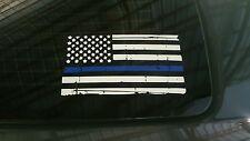 Thin Blue Line Flag Sticker Police Lives Matter USA Vinyl Decal - USA MADE! 6x10