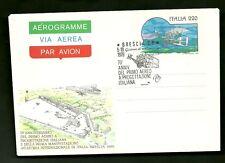 Aerogramma Aerogramme PRIMO VOLO AEREO ITALIANO  ANNULLO SPECIALE 1979 BRESCIA