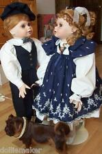 """LIFE SIZE TWINS 28"""" JODIE & JESSIE VICKIE WALKER DOLLS NRFB #2 OF ONLY 50 MADE"""