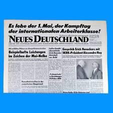 DDR Neues Deutschland Mai 1982 Geburtstag Hochzeit 36. 37. 38. 39. 40. 41. SED