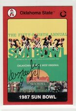 KEN ZACHARY  AUTOGRAPHED OKLAHOMA STATE UNIVERSITY FOOTBALL CARD CHARGERS
