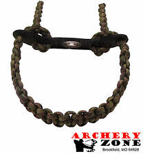 Multicam Camo Bow paracord wrist sling w/ Leather yoke Free Shipping Archery