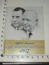 1957 Eisenhower & Nixon Official Inauguration Program - Norman Rockwell cover