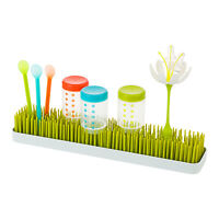 Boon Long Patch Grass Green Benchtop Baby Bottle Teat Accessory Sink Drying Rack