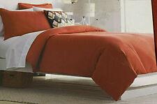 Threshold Vintage Washed Linen Blend Duvet Set Burnt Orange F/Q or King