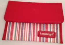 Longaberger Market Stripe Coin Purse Matches 2004 Mothers Day Tote