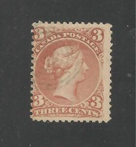 Canada #25 (A16) FVF USED - 1868-76 3c Queen Victoria - SCV $40.00