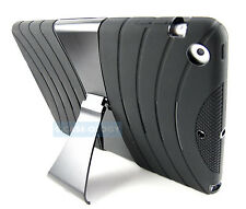FULL BLACK EXO STRETCH RUGGED CASE COVER APPLE IPAD AIR TABLET ACCESSORY