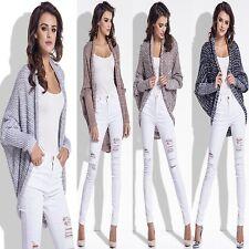 █■█ █ ▀█▀ Neu TOP Damen LUXUS Sweatshirt Pullover Cardigan Strickjacke Oversize