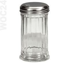 Zuckerstreuer Zuckerspender Zuckerdose Zuckerdosierer Glas Metalldeckel Streuer