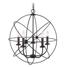 Chandelier 5 Light Orb Sphere