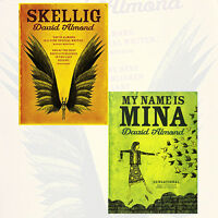 David Almond 2 Books Collection Set,Skellig, My Name is Mina Brand NEW Paperback