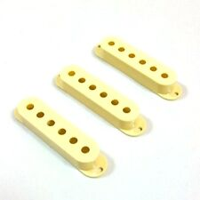 Single Coil Cover Set WORN YELLOW Montreux Selected Series fits to Strat ®
