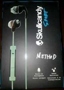 Skullcandy - Method Wired In-Ear Headphones - Black/Mint/Swirl