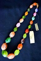 Vintage Genuine Lucite Multi Color Necklace
