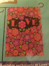 "New listing Spring Love Valentine Garden Flag 12.5"" X 18"" New"