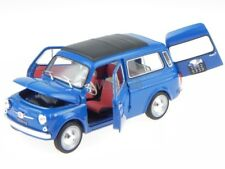 FIAT 500 Giardiniera 1960 blau Modellauto Leo 1 24
