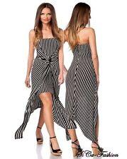 Markenlose gestreifte Damenkleider für die Freizeit