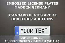 Belgium Small Euro European License Plate Number Plate Embossed Alu 34x9 cm