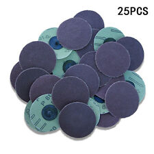 "25PC 3"" INCH ROLOC DISCS 80 GRIT R TYPE SANDING ABRASIVE ROLL LOCK COARSE ~ NEW!"