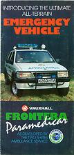 Vauxhall Frontera Paramedicar 1993 UK Market Foldout Sales Brochure 2.4i 2.3TD