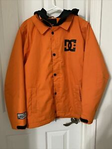 New 2016 Boys DC Cash Only Snowboard Jacket XL 16 Mandarin Orange/Black Youth