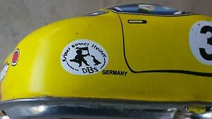VNTG. RACE CAR TIN TOY CLOCKWORK  WEST GERMANY DDR GDR AUTO MOTOR WIND UP PARTS