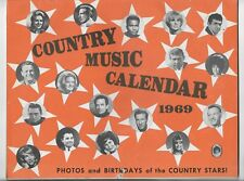 1969 COUNTRY MUSIC STARS PHOTO CALENDAR~FOLEY,CAMPBELL,CLINE,PRIDE,ATKINS,OWENS