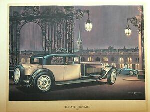 Affiche / Poster, Voiture ancienne, PAUL BRACQ -- Bugatti Royale 1927