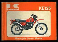 Owner's Manual KAWASAKI KE 125 A7 -1979/80 Owners Manuel Propriétaire en Anglais