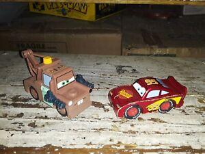 Disney Pixar's cars maidenhead wooden MATER/LIGHTNING MCQUEEN