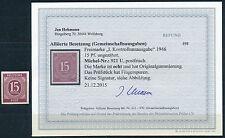 Kontrollrat I 15 Pfg. Ziffer 1946** ungezähnt Michel 921 U Befund (S12077)