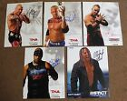 TNA Original Promo 5 Lot Kurt Angle Red Hardy Anderson WWE 8x10 Autograph Signed
