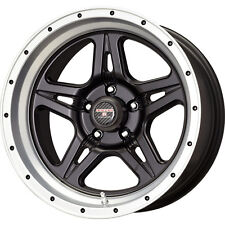 "17 x 9"" Moab STR Black-Machined Finish Jeep JK Wrangler Aluminum Wheels"