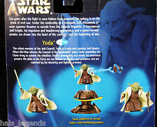 Star Wars Attack of the clones. YODA Jedi Master. New! with Force action!