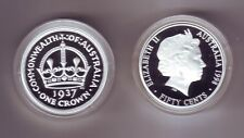 1998 SILVER Proof 50 cent of a 1937 Crown Coin ex Masterpieces in Set