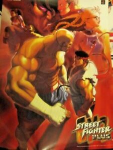 MAKE AN OFFER Very Rare Capcom Street Fighter EX 2 Plus Sony PS2 Poster Japan