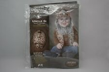 DUCK DYNASTY UNCLE SI HALLOWEEN COSTUME INFANT SIZE 18-24 MTH VEST BEARD HAT NEW