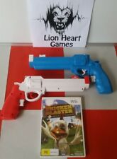 NINTENDO Wii CHICKEN BLASTER KIDS SHOOTER BUNDLE with two guns (AS NEW)