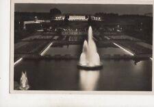 Essen Abendbeleuchtung im Grugapark Germany 1937 RP Postcard 504b