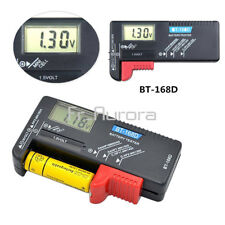 AAA AA C D Battery Tester Volt Checker BT-168D 1.5V 9V Button Cell Rechargeable